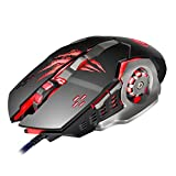 Airtana Gaming Mouse wired 2 Color ,4000 DPI 6 Buttons Ergonomic Game Mouse for PC