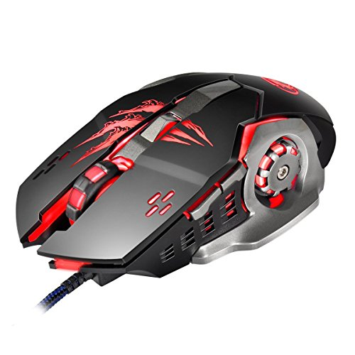 Airtana Gaming Mouse wired 2 Color ,4000 DPI 6 Buttons Ergonomic Game