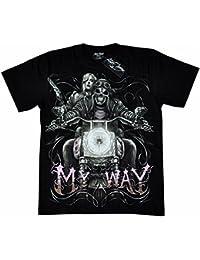 T-Shirt Rock Chang Rock Eagle Heavy Metal Biker Tattoo Rocker Gothic (4002)