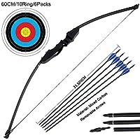 Outdoor Recurve Bow and Arrow Set Archery Training Toy(40LB,5¡ÁArrows,6¡ÁTarget Faces) ¡