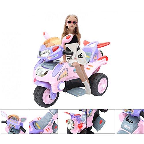 #Elektromotorrad 6V für Kinder von 3 bis 6 Jahren – 3 Räder rosa#