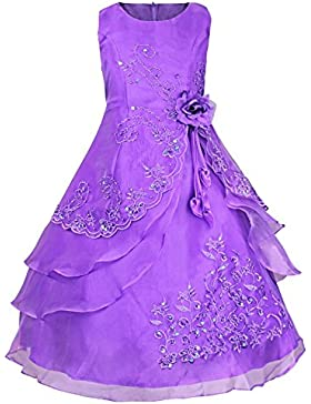 Tiaobug Kinder Mädchen Kleider Festlich 104 110 116 128 140 152 164 Blumenmädchen Kleidung