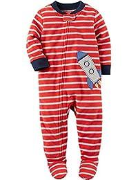 Carter's Schlafanzug Fleece 98/104 Einteiler Junge Boy warm Weich Winter Reißverschluss US Size 4 t