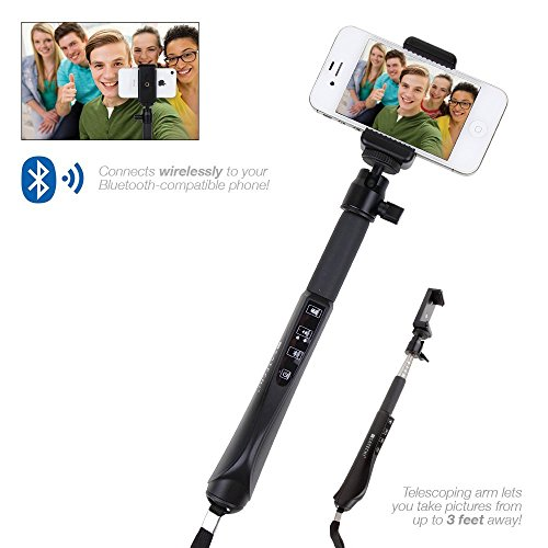 Satechi® Bluetooth Smart Selfie Extension Arm Monopod Telescoping Mount for iPhone and Samsung Galaxy