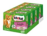 Kitekat Katzenfutter Nassfutter Markt Mix in Gelee, 48 Portionsbeutel (4 x 12 x 100g)