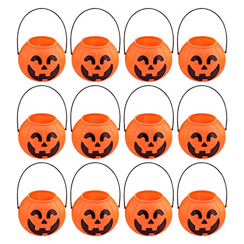 sche Halloween Motiv Kürbis Trick Or Treat Süßigkeiten Candy Bags Smile Pumpkin Tüten Set ()