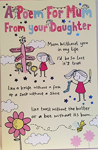 A poem from your daughter mothers day card fiddlesticks greeting a poem from your daughter mothers day card m4hsunfo