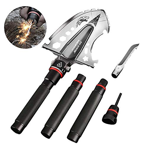 Pala plegable militar, herramientas de excavación, camping, senderismo, jardinería, pesca