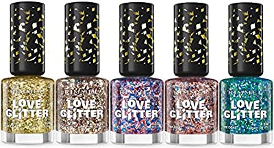 Rimmel Love Glitter Nail Polish 5 pcs from Rimmel