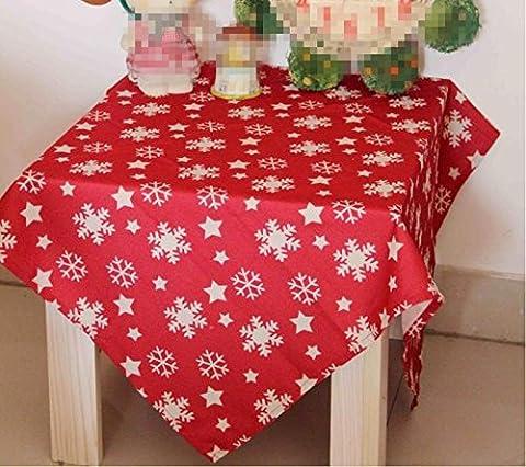 Christmas Tablecloth Cloth Fabric Rectangular Home Picnic Dustproof Anti-Fouling Soft Premium Table 140*200cm , 110*110cm