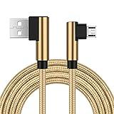 Ugi® Doppel L Kabel Micro USB Android,Rechtwinklig USB 2.0 zu Micro USB 3.3ft/6.6ft/10ft Nylon Geflochtene Daten Sync und Schnellladung für Samsung Galaxy S6 S7 Rand,Huawei HTC Moto G5,PS4 und Mehr
