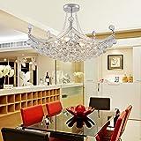 Einfache und elegante Kristall-Kronleuchter Wohnzimmerlampe mit 6 Schlafzimmern moderner Kristallleuchter Kristallleuchter Restaurant