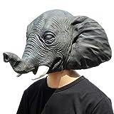 PartyCostume Máscara de Cabeza Humana de Fiesta de Traje Lujo de Halloween Elefante