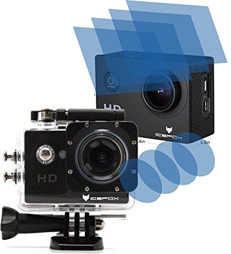 4ProTec I 8X Crystal Clear klar Schutzfolie für icefox Action Cam FHD Unterwasserkamera 12MP 1080P Premium Displayschutzfolie Bildschirmschutzfolie Schutzhülle Displayschutz Displayfolie Folie