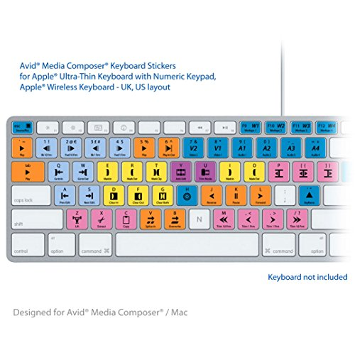 Avid Media Composer Erweiterte Tastatur Shortcuts Aufkleber Labels Für Mac Tastaturen