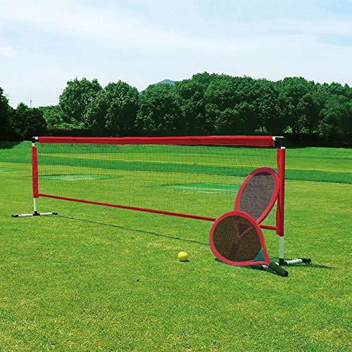 BURI Tennis-Set Tennischläger Netz Tennisball Schläger Garten Strand Camping Spiel