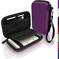 igadgitz Lila EVA Hart Tasche Schutzhülle fur Neu Nintendo 3DS XL (Alle Versionen) Etui Case Cover mit Tragegurt