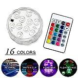 Subacqueo Sommergibile Luci Dell'acquario LED - JIAMA 10 LED RGB 16 Luci di Colori Telecomando Impermeabile Lampada dell'umore