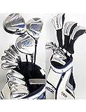 HDPP Club di Golf Mazze da Golf Golf Set Completo di Mazze Autista + Fairway Wood + Ferri + Putter + Bag Albero E Coperchio in GrafiteGraphite R Flex 10 5