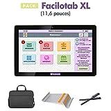 Facilotab FACILOTABXL Tablette Tactile 11,6' (16 Go, 1 Go de RAM, Android 6.0, WiFi, Noir)