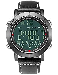 Wrath Smart Bluetooth Connected Silver Dial Activewear Smart Watch (Pedometer, Call, Camera Operations, Calories, App Notifications & More -Andriod & iOS Apps Available) (Black)