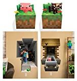 Minecraft Wandtattoo Wallsticker Sticker Steve Pig Cow Tapete Tattoo Aufkleber