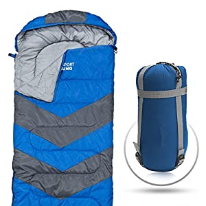 51uYkMwbtVL. SS300  - Abco Tech Sleeping Bag – Envelope Lightweight Portable, Waterproof, Comfort With Compression Sack, G