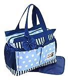GMMH 2 tlg Wickeltasche Pflegetasche Windeltasche Babytasche Farbauswahl (3120, blau)