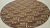 Küchen Teppich Kaffee Design braun 195 cm Rund
