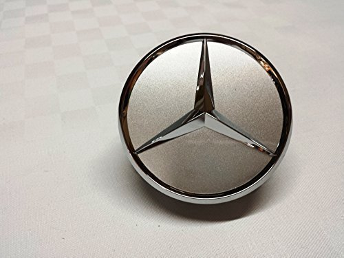 Lot de 4 enjoliveurs de roue Mercedes-Benz B66470202 / A2204000125 avec logo étoile - Pour classe E, classe C CL CLS SLK ML GLK, classe A, classe B W204 W212 W210 W221 W220 C209 W207 W246 - Argenté/chromé - Diamètre :75 mm
