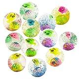 #4: WonderKart® Kids LED Flashing Water Filled Bouncing Rubber Ball - Pack Of 3 Ball