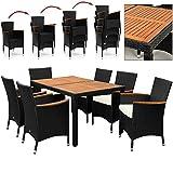 Salon de jardin polyrotin extérieur meubles ensemble Table...