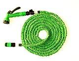 Aquablade Gartenschlauch Dehnschlauch 10 m, dehnbar bis 30 m, max. 6,5 bar, Grün inkl. Multifunktionsbrause mit 8 nützlichen Sprühfunktionen - Wasserschlauch