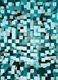Wizard + Genius 5001-2P-1 papier peint photo 3D Squares, bleu