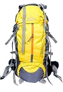 Himalayan Adventures 75 Ltrs Yellow Backpack/Rucksack/Travelling Bag/Hiking Bag/Adventure Bag/Camping Bag (Nylon, HA-8107YE)