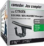 Rameder Attelage démontable avec Outil pour CITROËN BERLINGO/BERLINGO First Monospace + Faisceau 7...