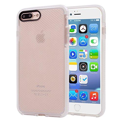 Für iPhone 7 Plus Plaid Texture Transparente TPU Schutzhülle DEXING ( Color : Purple ) White
