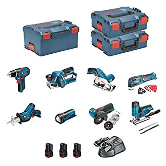 BOSCH Kit 12V BMK8-28CD3 (GSR 12V-15 + GKS 12V-26 + GWS 12V-76 + GST 12V-70 + GOP 12V-28 + GSA 12V-14 + GLI 12V-80 + GHO 12V-20 + 3 x 2,0 Ah + GAL1230CV + 2 x L-Boxx 136 + L-Boxx 238)