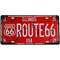 MS Route 66 Tin Poster Métal Home Bar Décor de plaque d'immatriculation en métal Rouge Sign Cj574-c