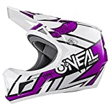 O'Neal Sonus Strike Fahrrad Helm All Mountain Bike DH MTB Downhill Freeride Fidlock Magnetverschluss, 0481, Farbe Lila, Größe M