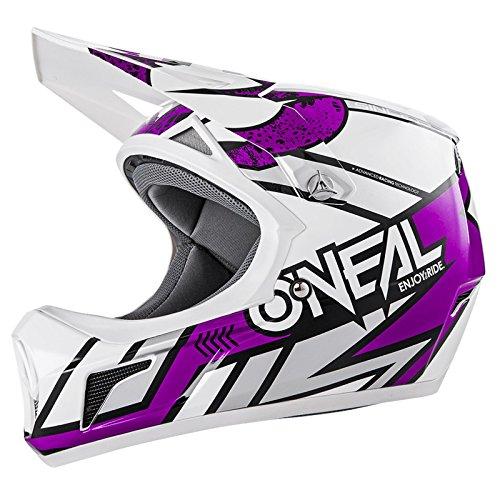 O'Neal Sonus Strike Fahrrad Helm All Mountain Bike DH MTB Downhill Freeride Fidlock Magnetverschluss, 0481, Farbe Lila, Größe S