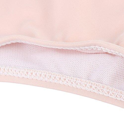 Lukis Damen Schwimmanzug Neckholder Bikini Sets Rosa