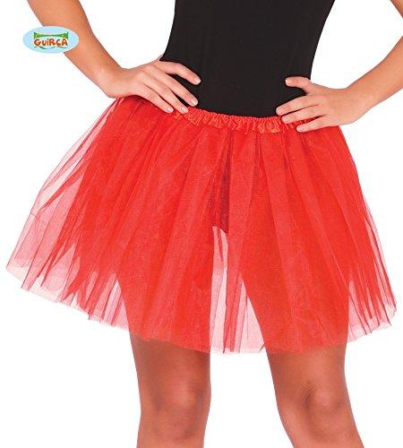 Guirca Tütü Tutu rot für Damen 80er Jahre Party Rock ca. 40cm (80er Jahre Kleiderschrank)