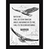 Fatmug Inspirational Posters With Frames - Motivational Quotes For Office And Room Decor - Warrior Poem ...