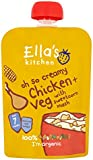 Ella's Kitchen Stage 2 from 7 Months Oh So Creamy Organic Chicken and Sweetcorn Mash with Herb Sprinkles 130 g (Pack of 6)