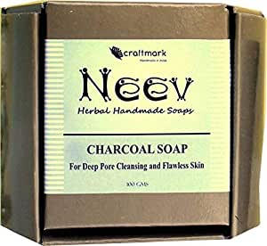 Neev Charcoal Soap For Deep Pore Cleansing and Flawless Skin - 75gms