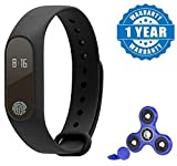 Captcha Xiaomi Mi Note 2 Compatible Certified M2 Smart Fitness Band With Heart Rate Sensor/Pedometer/Sleep Monitoring Functions with New Fidget Hand Spinner for Fun, Anti-Stress, Focus, ADHD, Anxiety & Autism(1 Year Warranty)