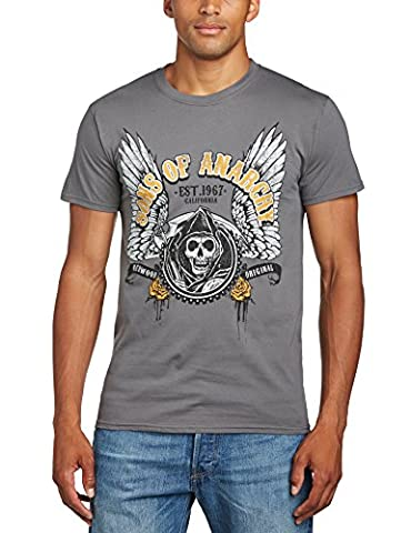 Official Sons Of Anarchy Winged Logo Men's T-Shirt