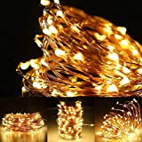 LE 20m 200 LED Copper Wire Lights, IP65 Waterproof Plug in Fairy Lights, Warm White Decorative String Lights for Party, Wedding, Garden and More Bild 4