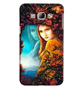 Blue Throat Girl Painting Hard Plastic Printed Back Cover/Case For Samsung Galaxy A8
